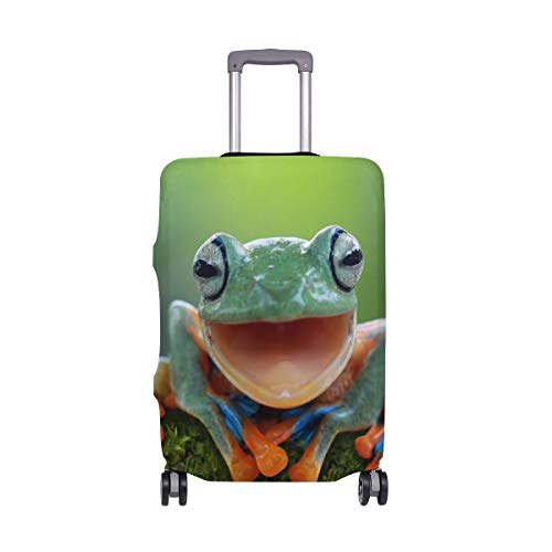ALINLO Funny Animal Frog Luggage Cover Baggage Suitcase Travel Protector Fit for 18-32 Inch
