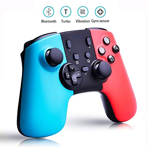 Bluetooth Switch Pro Controller, Wireless Controller for Nintendo Switch, TURBO Bursts Functietoetsen Gamepad Joystick, Double Shock, Ingebouwde Gyroscope Motion Sensing