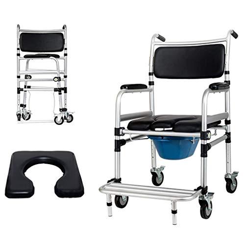 CSS Tragbare Badezimmer Stuhl | Nacht Toilette Dusche Transport Rollstuhl | Rollstuhl Mit Fußstützen | Handicapped/Schwangere/Ältere