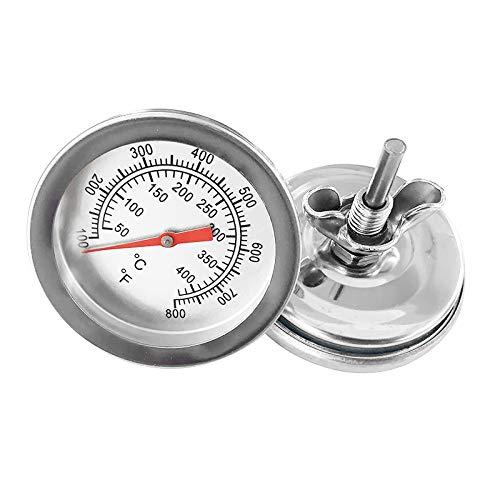 PINGHE Termómetro de Horno de Esfera Grande de 2 Pulgadas 100 °-800 °F Superficie de Parrilla de Acero Inoxidable para Cocinar Comida de Cocina Barbacoa
