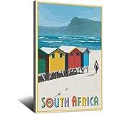Vintage-Reise-Poster Südafrika, Leinwand-Kunstdruck, Bild,