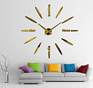 wall clock acrylic mirror diy clocks bedroom wall clock quartz watch 3d modern design wall stickers-XX