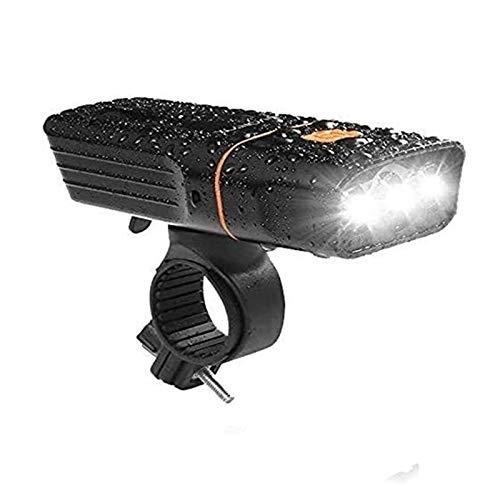 Luces de Bicicleta LED Cabeza de antorcha, Conjunto de luz de Bicicleta Recargable, 3000 lúmenes USB Bike Frontal Light and Trasero Light Light Lights para Bicicleta de montaña 3 Modos/Impermeable p
