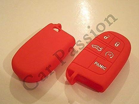 Schale Für Schlüssel Schutzhülle Für Jeep Renegade Cherokee Fiat 500 X Freemont Aus Silikon Kautschuk Mit Logo Rot Auto