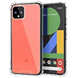 MoKo Compatible with Google Pixel 4 XL Case, Crystal Clear Reinforced Corners TPU Bumper + Anti…