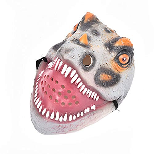 BEECM Head Mask Halloween Unique Dinosaur Mask Masquerade Festival Emulsion Realistic Costume Toy for Adults/Kids