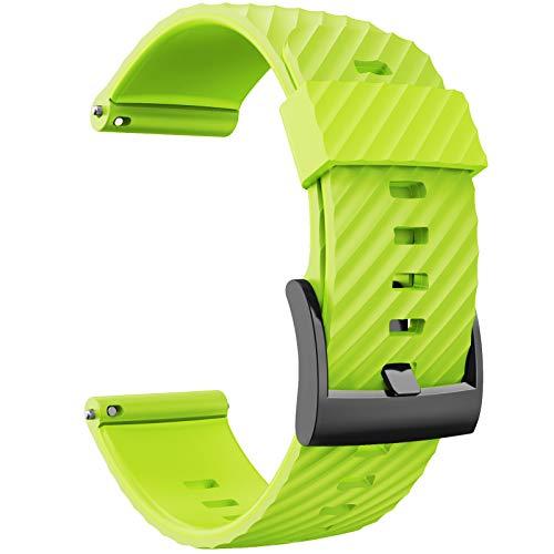 LIANYG Correa De Reloj Pulsera de reemplazo Suave Silicona Reloj Deportivo Correa Reloj de Reloj 493 (Band Color : Green, Band Width : 24mm)