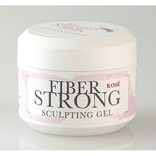 Fiber Strong New Evolution - Gel de construction, rosé, flacon de 15 ml
