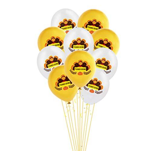 PRETYZOOM 20 Stück 12 Zoll Thanksgiving Day Luftballons Türkei Bedruckte Luftballons Latex Luftballons Festival Party Feier Luftballons Hochzeit Geburtstag Party Favors Party Supplies