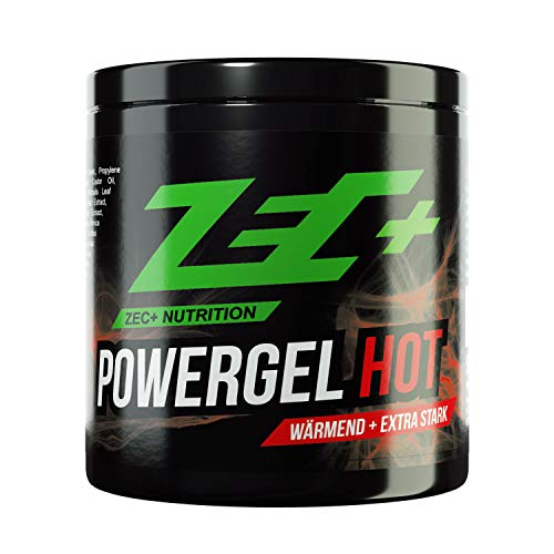 ZEC+ Powergel Hot – 500 ml wärmendes Sportgel, Recovery-Gel für Bodybuilding, Kraftsport und nach intensiven Workouts, mit Kampfer und natürlichen Extrakten, Made in Germany