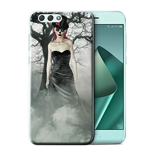 Stuff4® Phone Case/Cover/Skin/ASUS-CC/Day of The Dead Festival Collection Asus Zenfone 4 ZE554KL Zwarte jurk vrouw