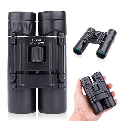 Binoculars Compact,10 x 25 Binoculars for adults,Bird Watching Binocular,Mini Binoculars with FMC Porro Prism Len for Hunting, Concert,Theater