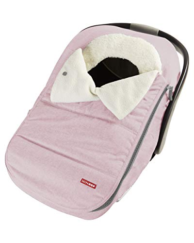 Skip Hop Winter Car Seat Cover: Ultra Plush Fleece, Pink Heather