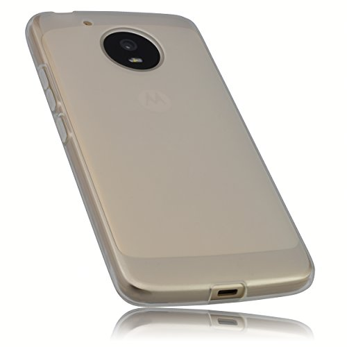 mumbi Hülle kompatibel mit Lenovo Moto G5 Handy Case Handyhülle, transparent Weiss