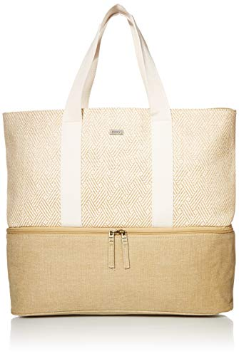 Roxy On The Next Wave 25L Large Beach Tote Bag for Women, Natural