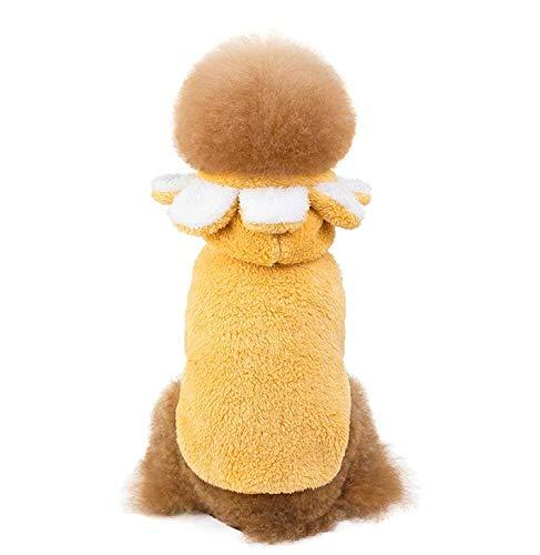 WJJ Hundeweihnachtskostümset,Welpen Schlafanzug Mantel,Mit Kapuze Haustiermantel|Doppelseitiges Fleece,S-XXL,C,L