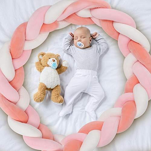 AmazeFan AmazeFan bedomranding babybed lengte 2 m baby nestje bedomranding weven gevlochten