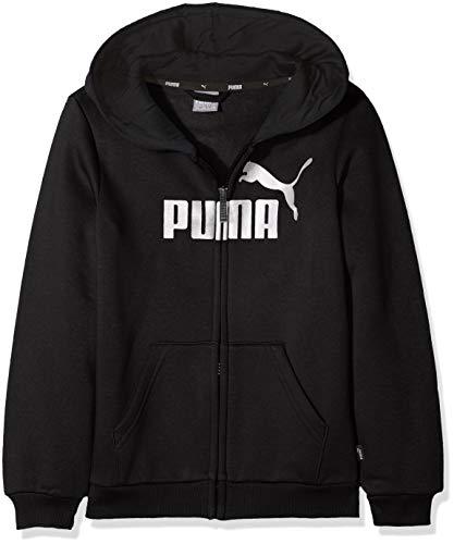 Puma Ess Logo Felpa con Cappuccio FL B, Ragazzo, 852102, Peacoat, 152