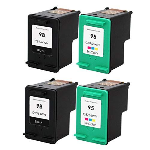Reemplazo compatible con cartuchos de tinta 98 95XL, para HP 5940 2570 8049 8050 8050 8053 C4100 impresora 2*sets