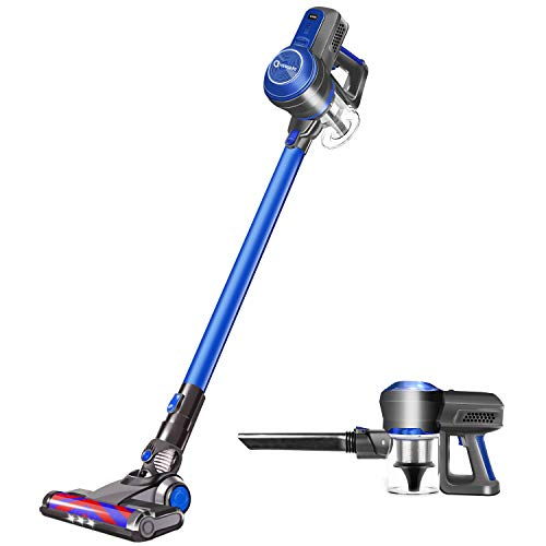 Cordless Vacuum Cleaner, 18KPa Super Suction Pet Hair Eraser, 4 in 1 Cordless Stick Vacuum, Convenient& Easy Empty Dirt Bin, 35Min Long-lasting, Lightweight& Versatile with Multiple Brush for Home Car
