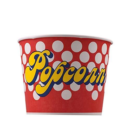 Popcorn Bodenbecher 85 oz 100 g 3 Liter Popcorn Kreise rot, weiß, gelb (5)