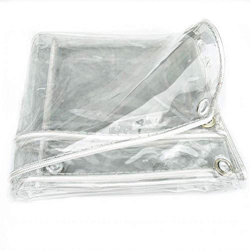 WYJW Waterdichte transparante plaid oogschaduw, regendichte buitenbodem, zonwerende stof met oogjes (maat: 1X2m) 2X3m