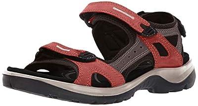 ECCO - Women's Yucatan Outdoor Sandal, Apricot/Dark Clay, 9-9.5 Medium US