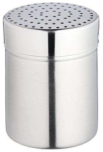 KitchenCraft KCMEDIUM Icing Sugar Shaker / Flour Dredger with Medium Holes, Stainless Steel, Silver