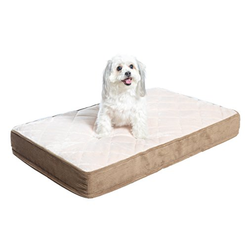 Milliard Quilted Padded Orthopedic Dog Bed, Egg Crate Foam with Plush Pillow Top Washable Cover (35 inches x 22 inches x 4 inches)