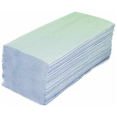 Lot de 10 paquets (1600 feuilles) de papier essuie-mains double-épaisseur en papier recyclé 25 x 23 cm