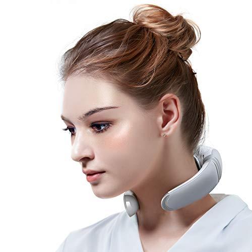 Electric Neck Massager, Portable 3D Neck Massage Equipment, Heating + Vibration + Impulse Function,...