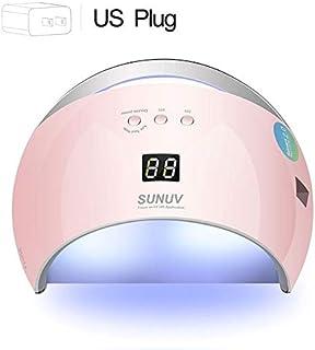 WJTWJSD Smart LED UV Lamp, Dryer Metal Bottom LCD Timer Multicolor Cured UV Gel Polish Nail Lamp (Color : Sun6pink US Plug)
