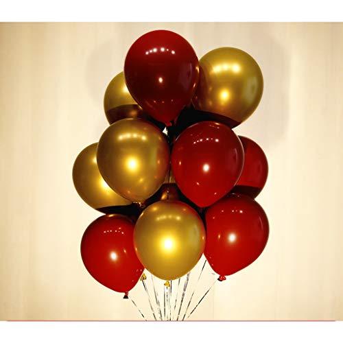Weihnachtskugel Metallischer Ballon, Konfetti Ballon Latex Ballon Hochzeit Szene Dekoration Party Dekoration Geburtstag Abschlussfeier Braut Baden Dekoration (Color : B)
