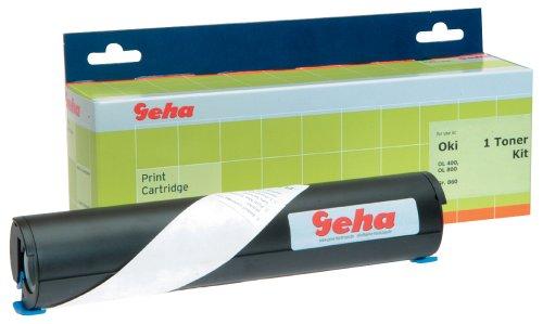 Geha Toner-Kit für Oki OL 400, 410, 420, 800, 810, 820, 830, 840, 850, 850, 870, Okifax 2000, 2100, 2300, ca. 2500 Seiten, schwarz