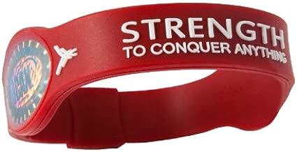 God's Peeps iCAN Strength Bracelet - Red - Large