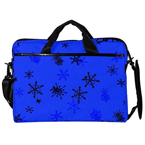 Laptoptas Mooie kinderachtige sneeuwvlokken 15 inch Business Computer Laptop Case Laptop Sleeve Schouder Messenger Bag Tablet Draagtas voor Vrouwen en Mannen