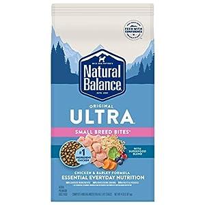Natural Balance Original Ultra Small Breed Bites Dry Dog Food, Chicken & Barley, 4 Pounds