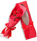 Sevenriver Handgemachtes koreanisches Seifen Rosen Bouquet in Geschenkverpackung mit Schleife, Rot,...