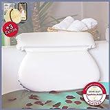 Pumpko® Home Cuscino per Vasca da Bagno con Ventose | Incluso Spugne Peeling | Ideale anc...