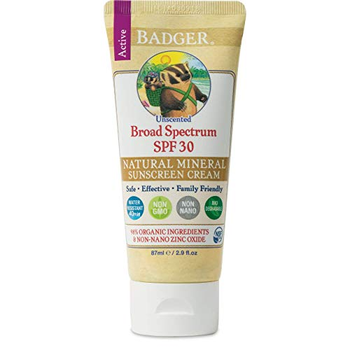 Badger All Natural Sunscreen, SPF 30, Unscented 2.9 oz (87 ml) by H&B Amazon - Test