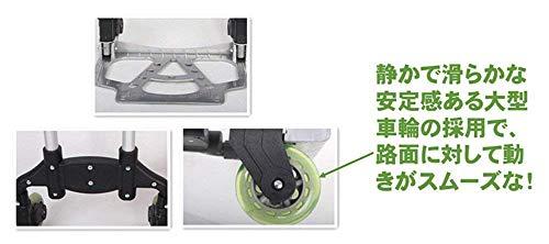 『【KAKEHASHI】キャリーカート 軽量 折りたたみ式 耐荷重 78Kg 荷物 固定用 ロープ付き/ブラック』の6枚目の画像