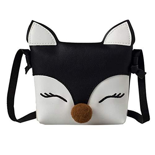 VECDY Damen Handtaschen Schultertasche Geldbörse Kartenhalter Tasche Kinder Baby Mädchen Jungen Fox Umhängetasche Handtaschen Mini Crossbody Bag Packet
