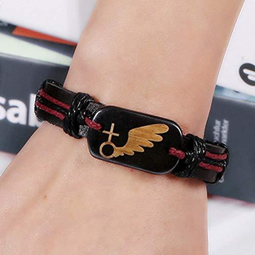 DSNSNSSL lederen armband gevlochten rundleer retro weven paar armbanden voor liefhebbers vriendschap Bangles cadeau voor haar & hem