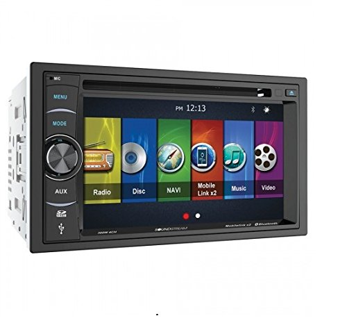 "Soundstream VRN-64HB 2-DIN GPS/DVD/CD/MP3/AM/FM Receiver with 6.2"" LCD/Bluetooth/ MobileLinkX2"
