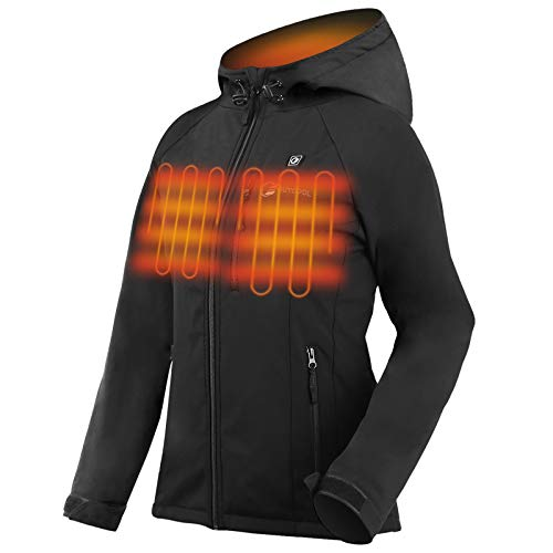 OUTCOOL Women's Heated Jacket with Hood Slim-Fit Heating Jacket (Type: YJ-524A-WJ)(M)