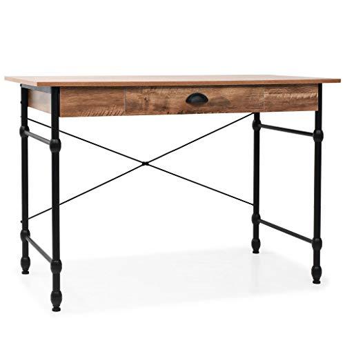 vidaXL biurko do pisania z szufladą dębu kolor industrialny stół komputerowy