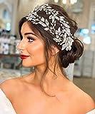 ZHENM Rhinestone Wedding Headband,Bridal Headpiece for Wedding,Party Hair Accessories for Women
