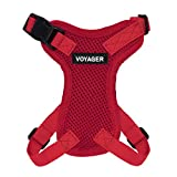 Best Pet Supplies, Inc. Voyager Step-in Lock Cat Harness - Adjustable Step-in Vest Harness for Small and Large Cats - Red (Matching Trim), XXS (Chest: 10-14' Fit Cats) (217-RDW-XXS)