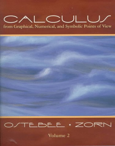 Calculus: From Graphical, Numerical, and Symbolic Points of View