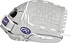 cheap Rawlings Sure Catch Series Fastpitch Softball Glove Purple / Gray / White Throw with your right hand